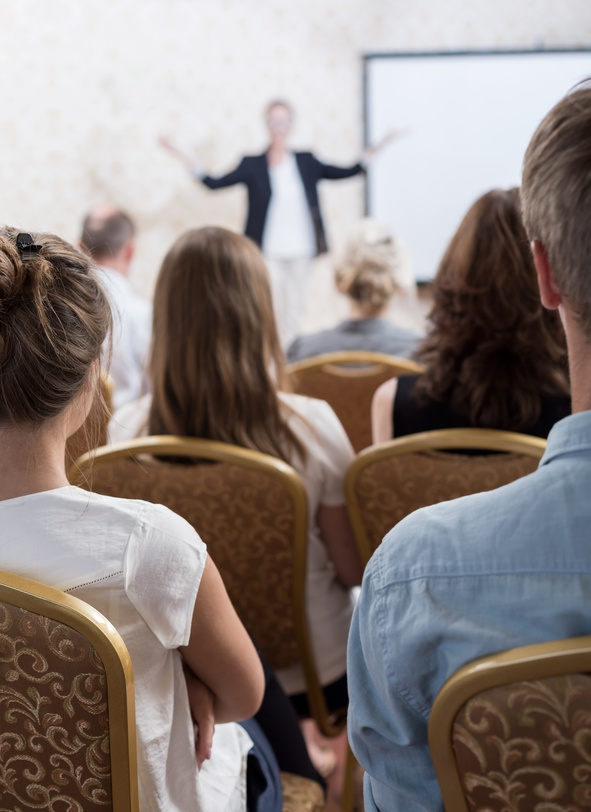 Picture of active students during professional training session