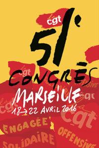 Affiche CGT congrés marseille